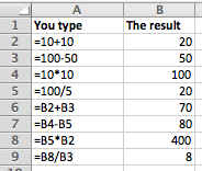 Excel creating formulas that refer to other cells