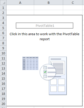 Excel blank pivot table report