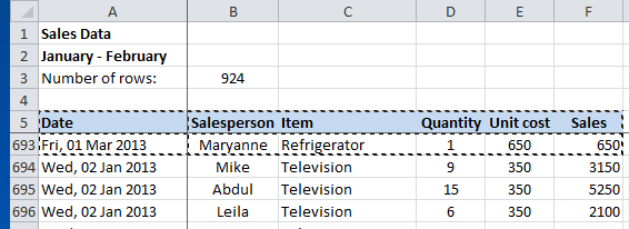 Excel Pivot Table, changing the data source, current data range selected