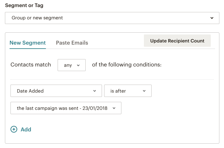 Mailchimp email campaign - create a new segment | Learn Mailchimp with Five Minute Lessons