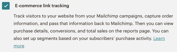 Mailchimp email campaigns - tracking ecommerce link tracking | Learn Mailchimp with Five Minute Lessons