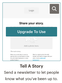 Mailchimp email campaign - you must upgrade to use this email template | Learn Mailchimp with Five Minute Lessons