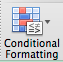 MIcrosoft Excel Conditional Formatting button